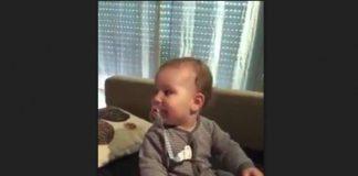 Bebé imitou Cristina Ferreira
