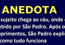 recebido por São Pedro - ANEDOTA