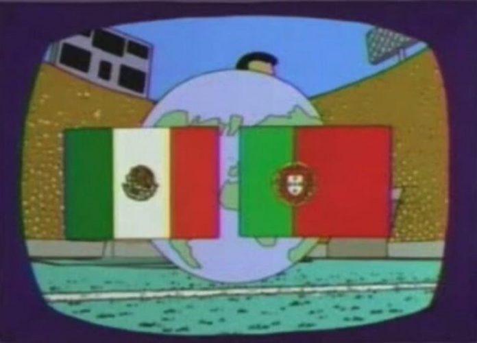 Portugal e México, segundo os Simpsons
