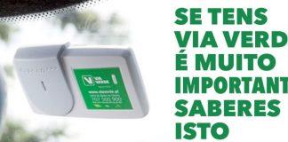 Informação importante para quem tem Via Verde