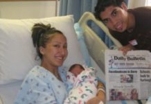 casal baptiza filho de Facebookson