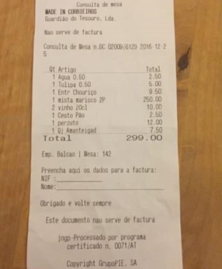 Restaurante em Lisboa acusado de roubar