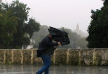 Chuva e vento para o fim de semana
