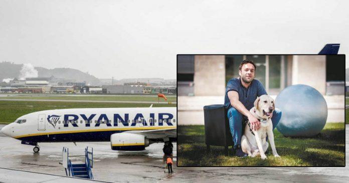 impedido de viajar com o seu cão