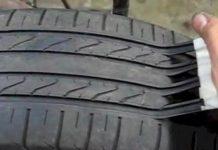 como fazem os burlões para que um pneu velho tenha a aparência de um novo