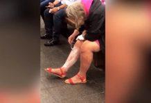 Mulher é filmada a fazer a depilação