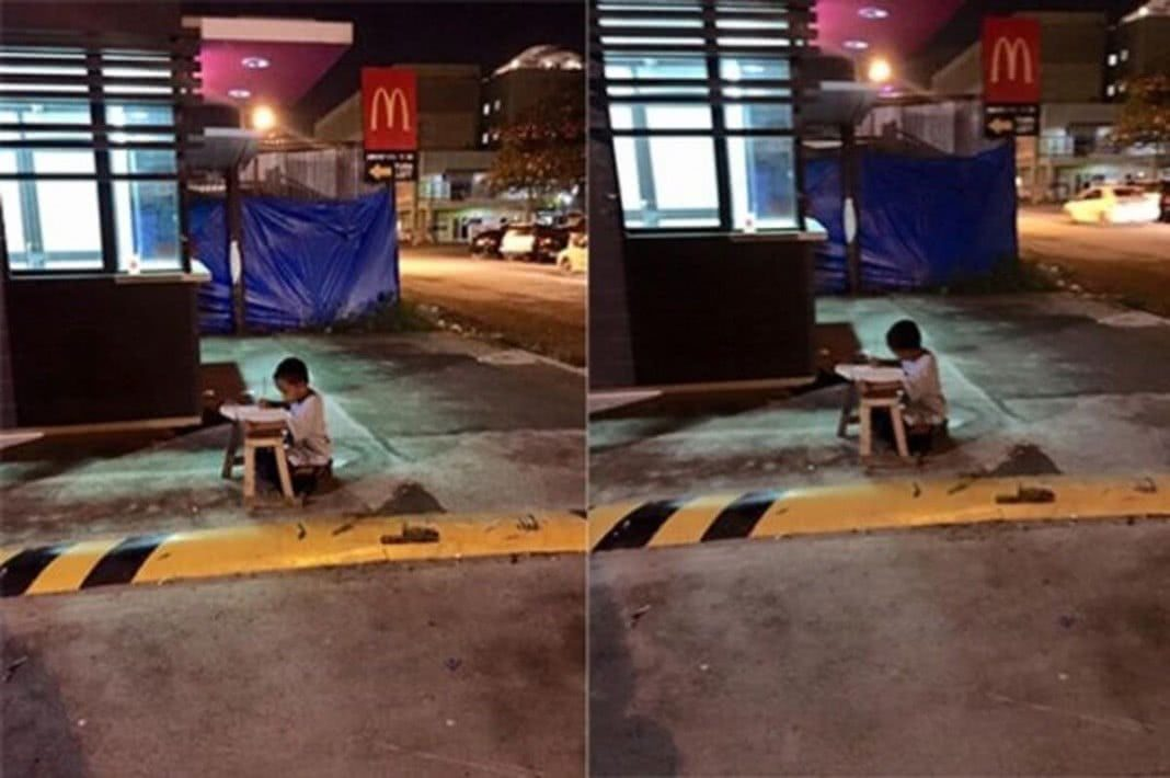 Menino de rua emociona o mundo
