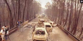 Mobílias doadas às vítimas dos incêndios