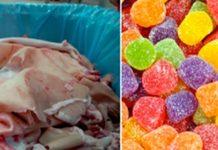 Gostas de gomas e gelatina