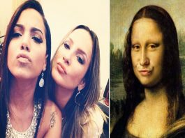 Mulheres que tiram fotos a fazer bico de pato