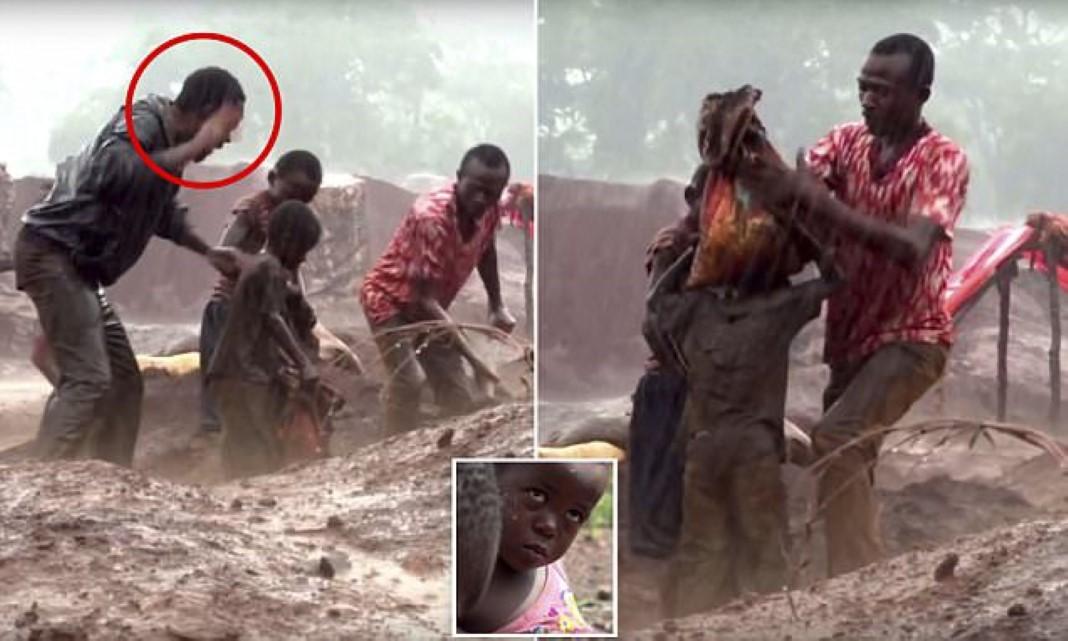 Crianças sofrem e trabalham nas minas