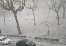 Cidade de Guimarães fica pintada de branco
