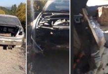 homem encontra BMW M3 completamente desmantelado