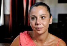 Sara Norte devastada no funeral da irmã