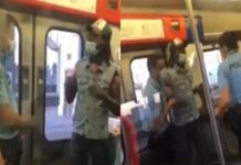 Agente PSP filmada pontapear passageiro